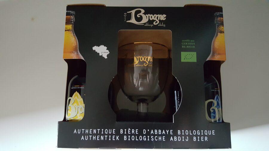 Coffret Brogne bio 4 x 33 cl + 1 verre